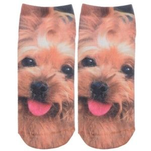 NWT! CUTE PUPPY PRINT LOW CUT BOAT ANKLE SOCKS